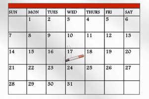 Календарь бросающего курить, симптомы, реакция организма
